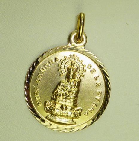 Virgen de la Peana. Borja.Redonda 23 mm