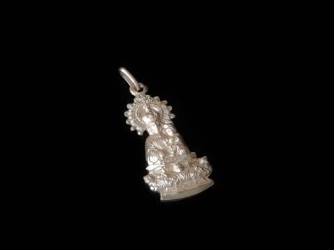 Virgen de la Peana. Borja plata 25mm