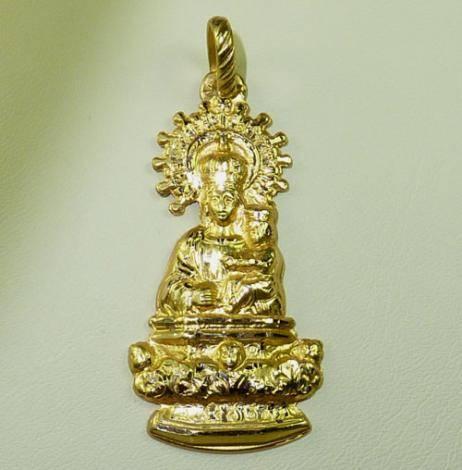 Virgen de la Peana de Borja. 31 mm.